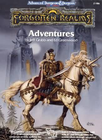 Dungeons and Dragons 2nd ed: Forgotten Realms: Adventures - USED