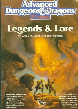 Dungeons and Dragons 2nd ed: Legends and Lore: 2108 - Used
