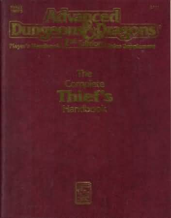 Dungeons and Dragons 2nd ed: Players Handbook: The Complete Thiefs Handbook - Used