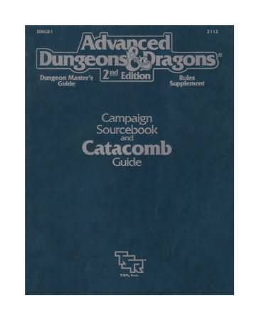 Dungeons and Dragons 2nd ed: Campaign Sourcebook and Catacomb Guide