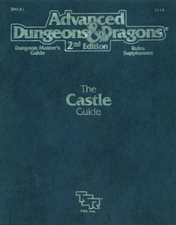 Dungeons and Dragons 2nd ed: Dungeon Masters Guide: The Castle Guide - Used