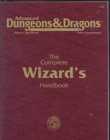 Dungeons and Dragons 2nd ed: The Complete Wizards Handbook - Used