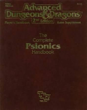 Dungeons and Dragons 2nd ed: The Complete Psionics Handbook - Used