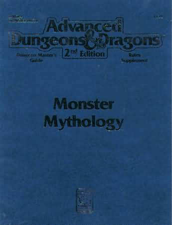 Dungeons and Dragons 2nd ed: Monster Mythology - Used