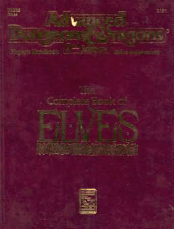 Dungeons and Dragons 2nd ed: the Complete Book of ELVES: 2131 - Used