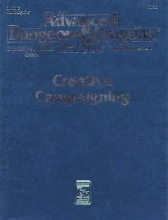 Dungeons and Dragons 2nd ed: Creative Campaigning - Used