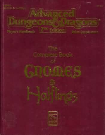Dungeons and Dragons 2nd ed: the Complete Book of Gnomes and Halflings