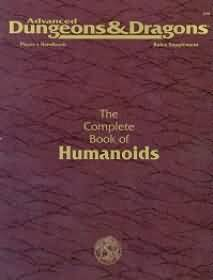 Dungeons and Dragons 2nd ed: The Complete Book of Humanoids - Used