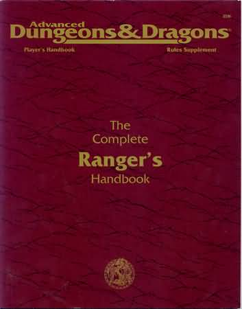 Dungeons and Dragons 2nd ed: the Complete Rangers Handbook - Used