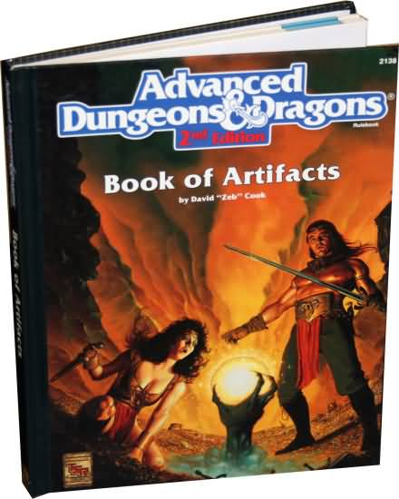 Dungeons and Dragons 2nd ed: Book of Artifacts - Used