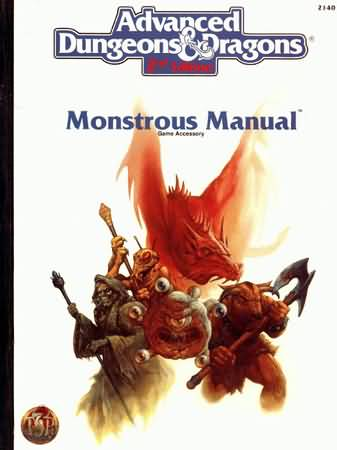 Dungeons and Dragons 2nd ed: Monstrous Manual: 2140 - Used