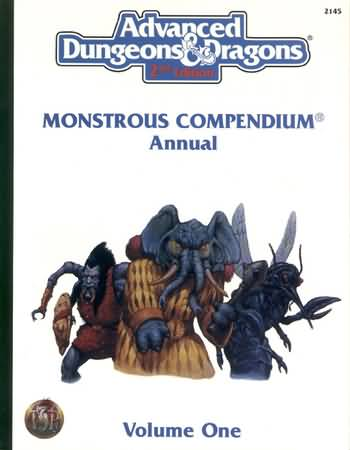 Dungeons and Dragons 2nd ed: Monstrous Compendium Annual Volume One - USED