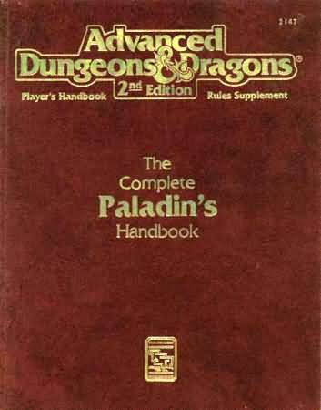Dungeons and Dragons 2nd ed: the Complete Paladins Handbook - Used