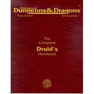 Dungeons and Dragons 2nd ed: the Complete Druids Handbook - Used