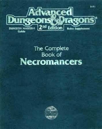 Dungeons and Dragons 2nd ed: the Complete Book of Necromancers - Used