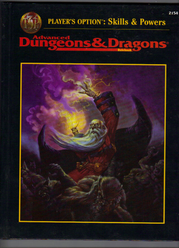 Dungeons and Dragons 2nd ed: Players Option: Skills and Powers: 2154