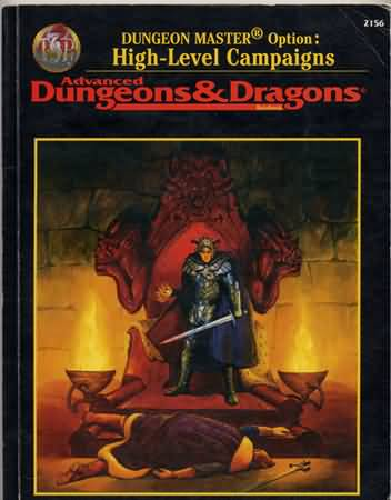 Dungeons and Dragons 2nd ed: Dungeon Master Option: High-Level Campaigns - Used