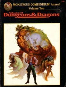 Dungeons and Dragons 2nd ed: Monstrous Compendium Annual: Volume Two: 2158 - Used