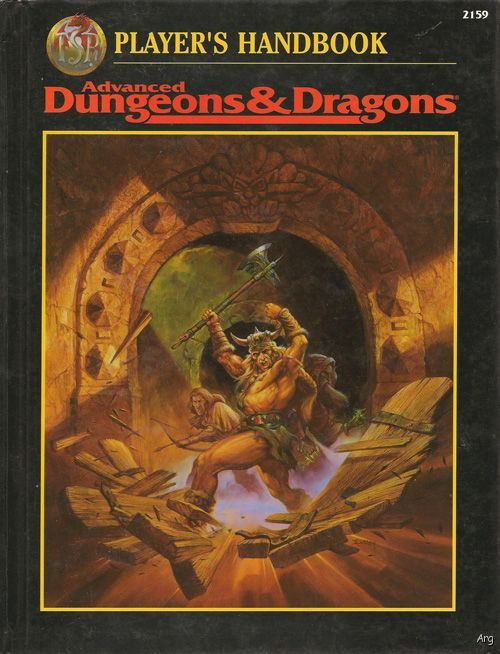 Dungeons and Dragons 2nd ed: Players Handbook: 2159 - Used