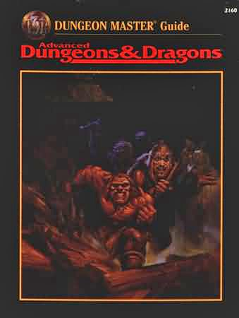 Dungeons and Dragons 2nd ed: Dungeon Master Guide: 2160 - Used