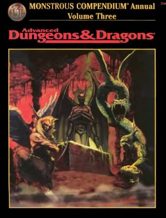 Dungeons and Dragons 2nd ed: Monstrous Compendium Annual: Volume Three - Used