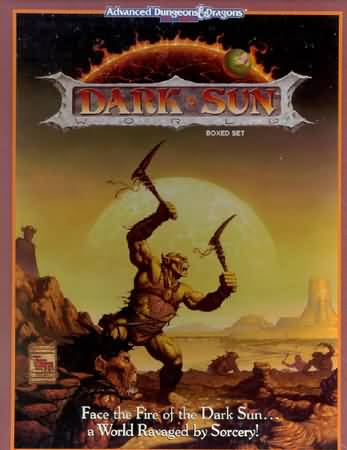 Dungeons and Dragons 2nd ed: Dark Sun Boxed SET: 2400 - Used