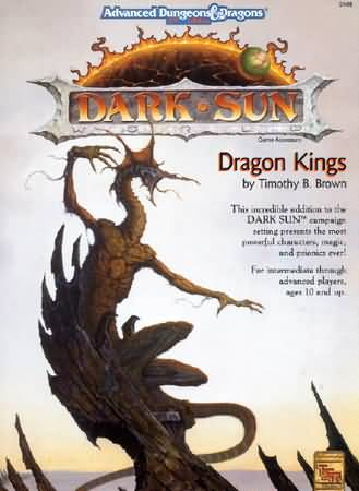 Dungeons and Dragons 2nd ed: Dark Sun: Dragon Kings - Used