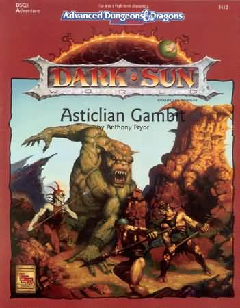 Dungeons and Dragons 2nd ed: Dark Sun: Asticlian Gambit - Used