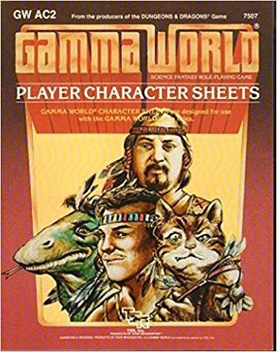 Gamma World: Player Charcter Sheets 7507 - Used