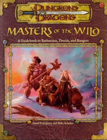 Dungeons and Dragons 3rd ed: Masters of the Wild - Used