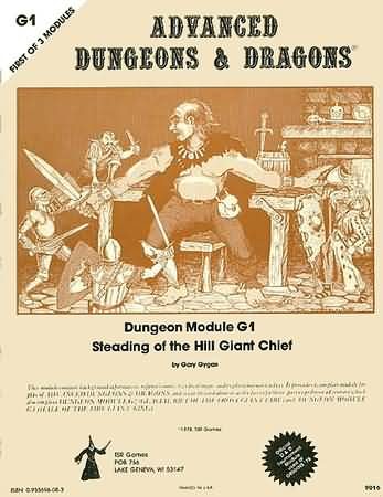 Dungeons and Dragons 1st ed: Dungeon Module G1: Steading of the Hill Giant Chief - Used