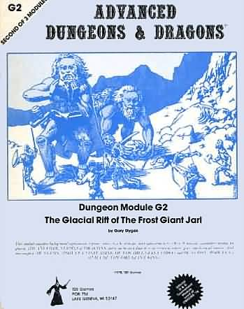 Dungeons and Dragons 1st ed: Dungeon Module G2: the Glacial Rift of the Frost Giant Jarl - Used