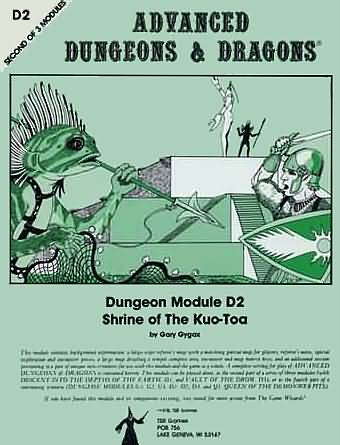 Dungeons and Dragons 1st ed: Dungeon Module D2: Shrine of the Kuo-Toa - Used