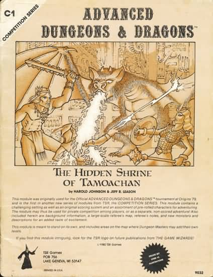 Dungeons and Dragons 1st ed: the Hidden Shrine of Tamoachan - Used