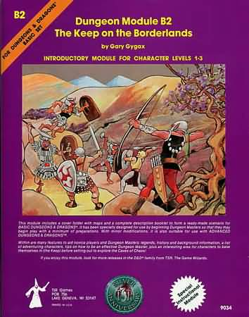 Dungeons and Dragons Basic ed: Dungeon Module B2: The Keep on the Borderlands - Used