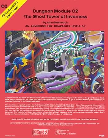 Dungeons and Dragons 1st ed: Dungeon Module C2: the Ghost Tower of Inverness - Used