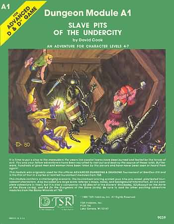 Dungeons and Dragons 1st ed: Slave Pits of the Undercity - Used