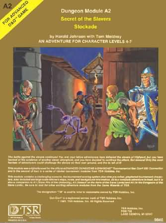 Dungeons and Dragons 1st ed: Secret of The Slavers Stockade - Used