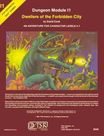 Dungeons and Dragons 1st ed: Dungeon Module l1: Dwellers of the Forbidden City - Used
