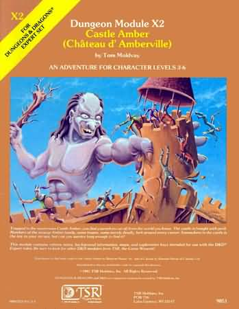 Dungeons and Dragons 1st ed: Castle Amber: Module X2 - Used