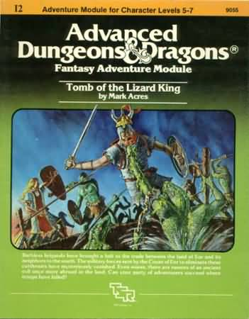 Dungeons and Dragons 1st ed: Tomb of the Lizard King - Used