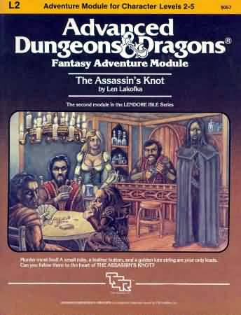 Dungeons and Dragons 1st ed: Fantasy Adventure Module: the Assassin's Knot - Used