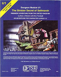 Dungeons and Dragons 1st ed: U1: The Sinister Secret of Saltmarsh