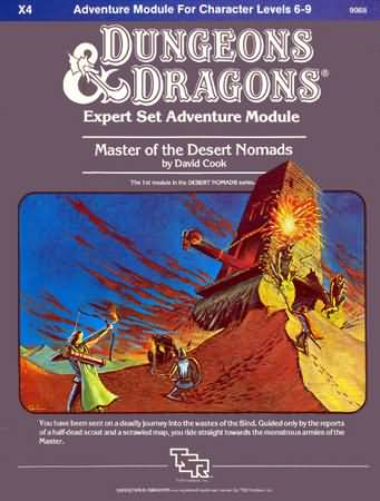 Dungeons and Dragons Basic: Master of the Desert Nomads - Used
