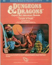 Dungeons and Dragons 1st ed: Expert Set Adventure Module: Temple of Death - Used