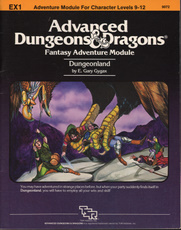 Dungeons and Dragons 1st ed: Fantasy Adventure Module: Dungeonland - USED