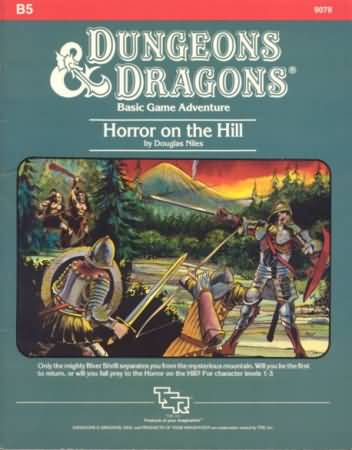 Dungeons and Dragons 1st ed: Horror on The Hill - Used