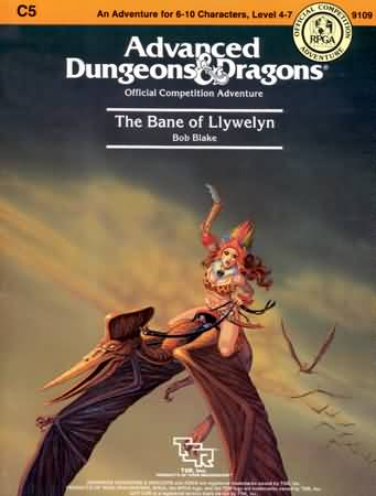 Dungeons and Dragons 1st ed: The Bane of Llywelyn - Used