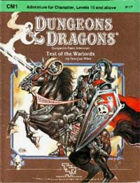 Dungeons and Dragons 1st ed: Test of the Warlords - Used