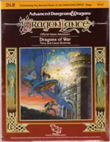 Dungeons and Dragons 1st Ed: DragonLance: Dragons of War - Used